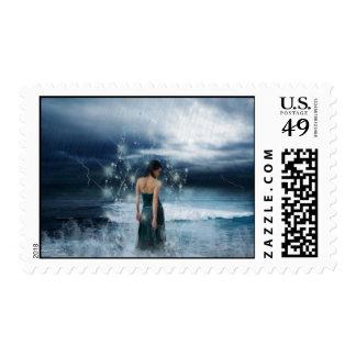 Magical Water Goddess Stamp