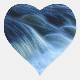 Magical Waterfall Heart Sticker