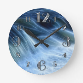 Magical Waterfall Round Clock