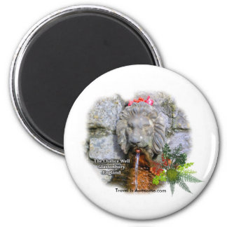 Magical Well, Glastonbury England 2 Inch Round Magnet