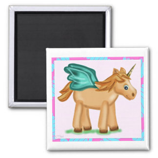 Magical Winged Unicorn Flying High Magnet