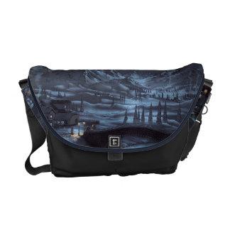 Magical Winter Nights Messenger Bag