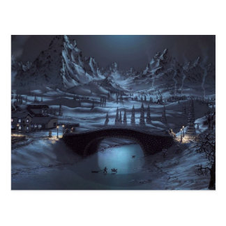 Magical Winter Nights Post Card