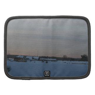 Magical Winter Sunrise - Grey Blur Folio Planner