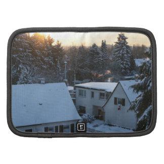 Magical Winter Sunrise - Orange Sun Folio Planner