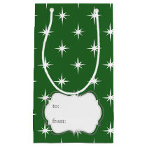 magical Winter Twinkles Sparkles Pattern Small Gift Bag