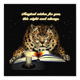 Magical Wishes from the Leopard Mage Card