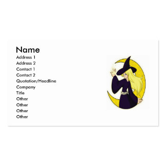 Magical Witch, Name, Address 1, Address 2, Cont... Double-Sided Standard Business Cards (Pack Of 100)