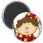 magical wizard little boy in a red robe refrigerator magnets