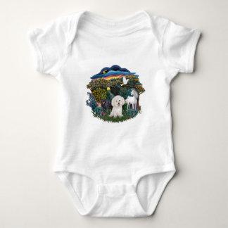 Magical WOods - Bichon Frise Baby Bodysuit