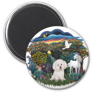 Magical WOods - Bichon Frise Magnet