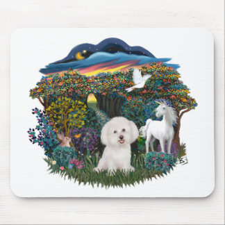 Magical WOods - Bichon Frise Mouse Pad