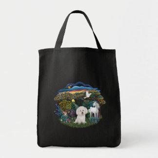 Magical WOods - Bichon Frise Tote Bag