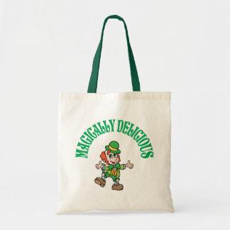 Magically Delicious Dancing Leprechaun Tote Bags