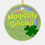 Magically Delicious Double-Sided Ceramic Round Christmas Ornament