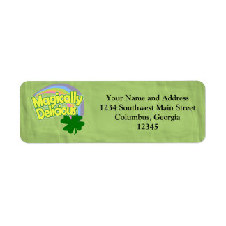 Magically Delicious Return Address Labels