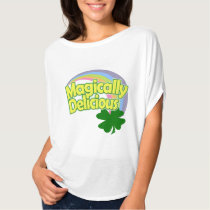 Magically Delicious Rainbow Shamrock T-Shirt