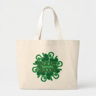 Magically Delicious Shamrocks Canvas Bags