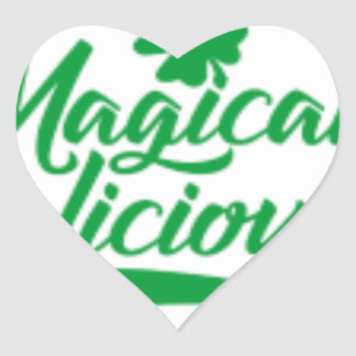 Magically Delicious St. Patrick's Day Heart Sticker
