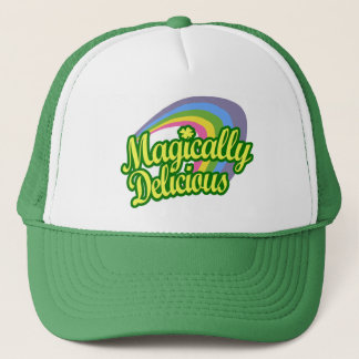 Magically Delicious, St Patricks Day Magic Rainbow Trucker Hat