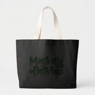 magically delicious st patricks funny tshirt tote bag