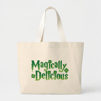 magically delicious st patricks funny tshirt tote bags