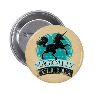 Magically Delicious (Unicorn Meat) Vintage 2 Inch Round Button