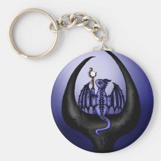 Magican Dragon Basic Round Button Keychain