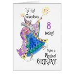 Magician 8th Birthday Card for Grandson