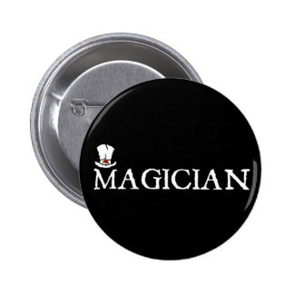 Magician and Hat 2 Inch Round Button