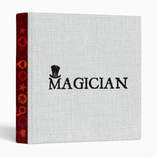 Magician and Hat 3 Ring Binder