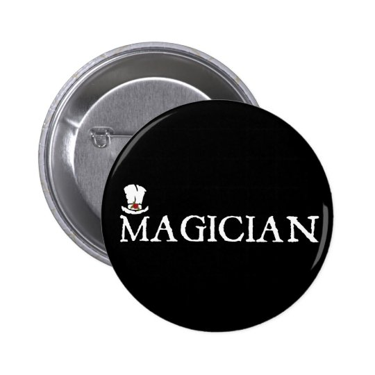 Magician and Hat Button