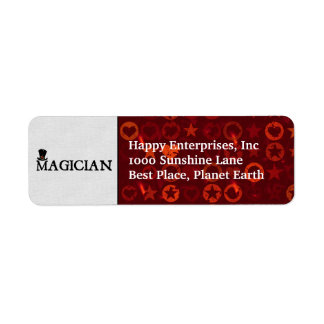 Magician and Hat Label