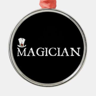 Magician and Hat Metal Ornament