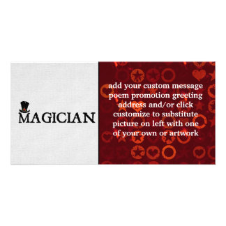Magician and Hat Photo Card Template