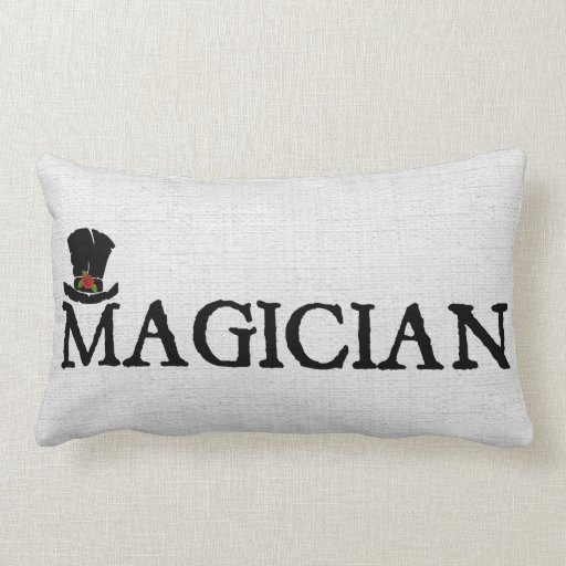 Magician and Hat Throw Pillow