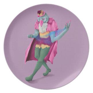 Magician Avian Melamine Plate