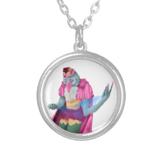 Magician Avian Silver Plated Necklace