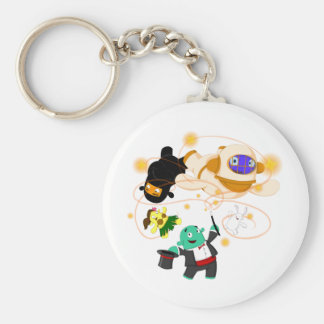 Magician Basic Round Button Keychain