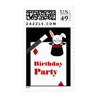 Magician Birthday Party Postage