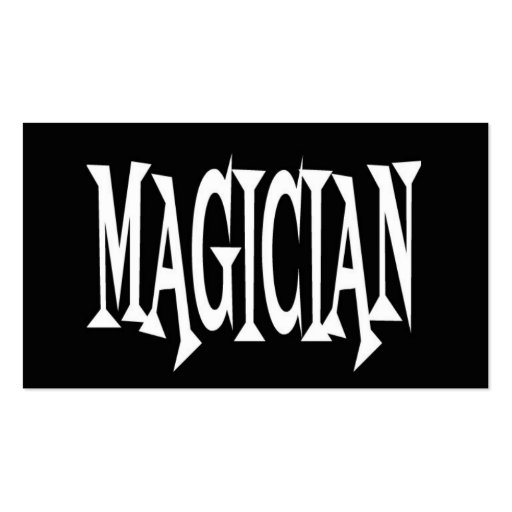 magician black and white business card zazzle