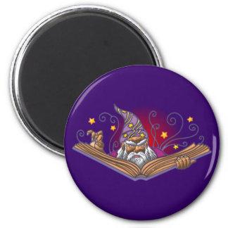 Magician book Grimoire wizard sorcerer being LOCK 2 Inch Round Magnet