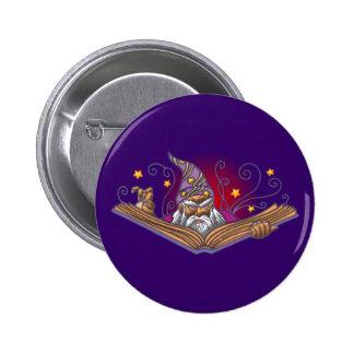 Magician book Grimoire wizard sorcerer being LOCK Button