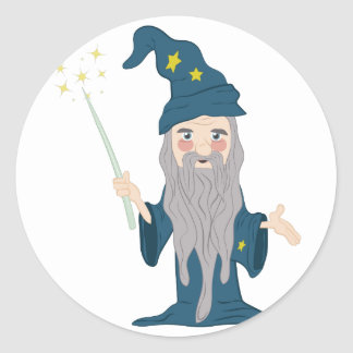 Magician Classic Round Sticker