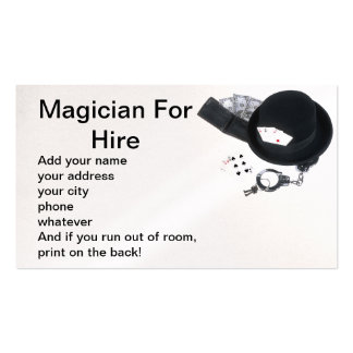 Magician for hire Double-Sided standard business cards (Pack of 100)