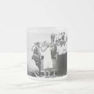 Magician Harry Houdini Overboard Box Escape 1912 Frosted Glass Coffee Mug