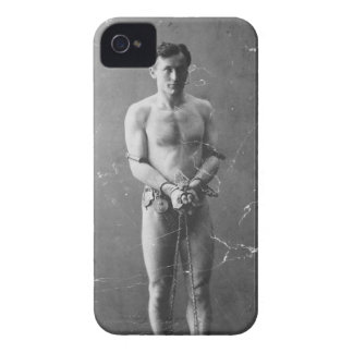 Magician Harry Houdini Standing In Chains iPhone 4 Cover