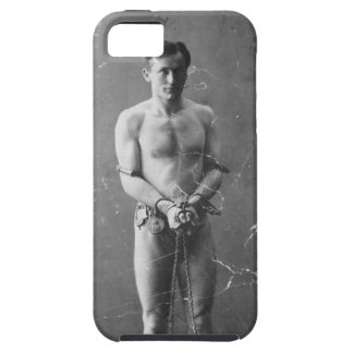 Magician Harry Houdini Standing In Chains iPhone SE/5/5s Case