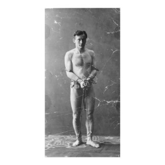 Magician Harry Houdini Standing In Chains Photo Print