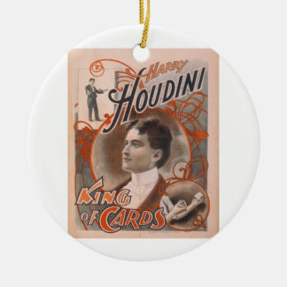 Magician Harry Houdini The King Of Cards Ceramic Ornament